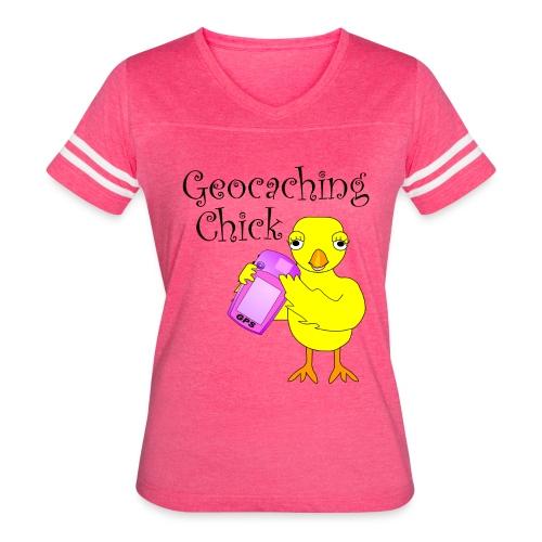 Geocaching Chick Text  - Women's Vintage Sport T-Shirt