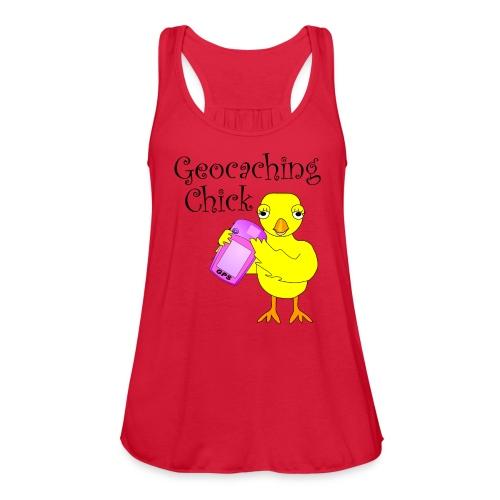 Geocaching Chick Text  - Women's Flowy Tank Top by Bella