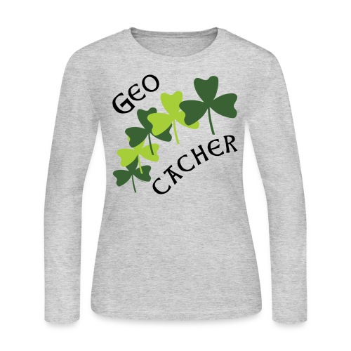 Geocacher Shamrocks - Women's Long Sleeve Jersey T-Shirt