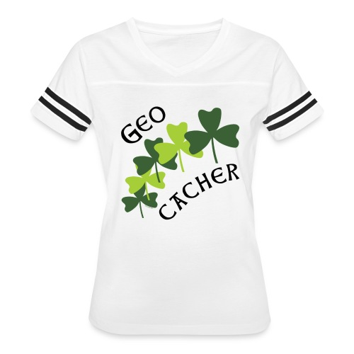 Geocacher Shamrocks - Women's Vintage Sport T-Shirt