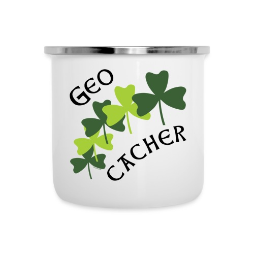 Geocacher Shamrocks - Camper Mug