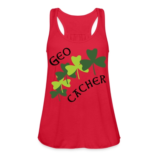 Geocacher Shamrocks - Women's Flowy Tank Top by Bella