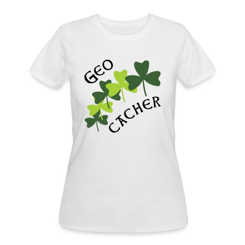 Geocacher Shamrocks - Women's 50/50 T-Shirt