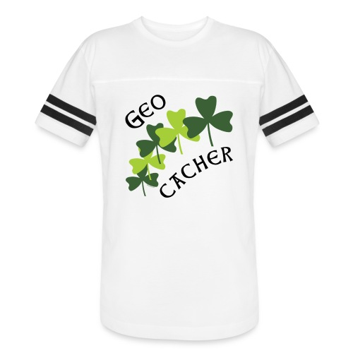 Geocacher Shamrocks - Vintage Sport T-Shirt