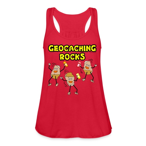 Three Geocaching Rocks - Women's Flowy Tank Top by Bella