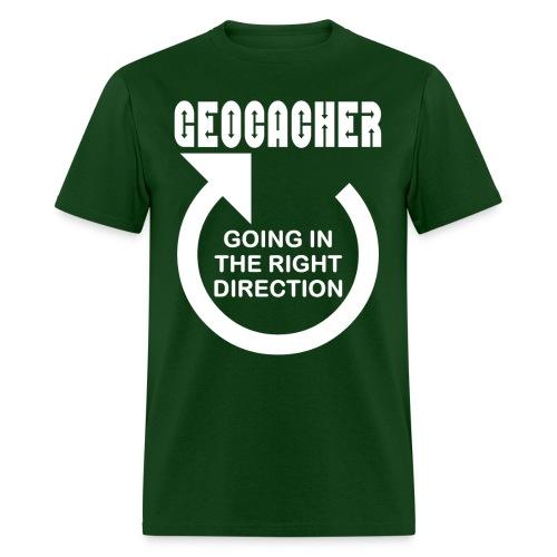 Geocacher Right Direction White Text - Men's T-Shirt
