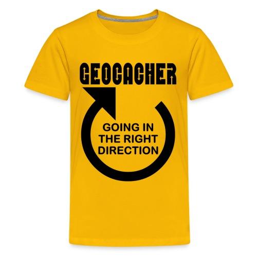 Geocacher Right Direction - Kids' Premium T-Shirt