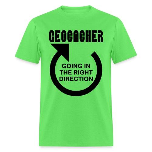 Geocacher Right Direction - Men's T-Shirt