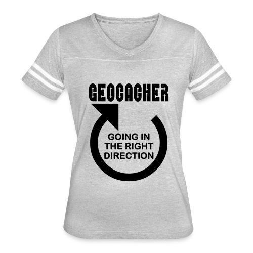 Geocacher Right Direction - Women's Vintage Sport T-Shirt