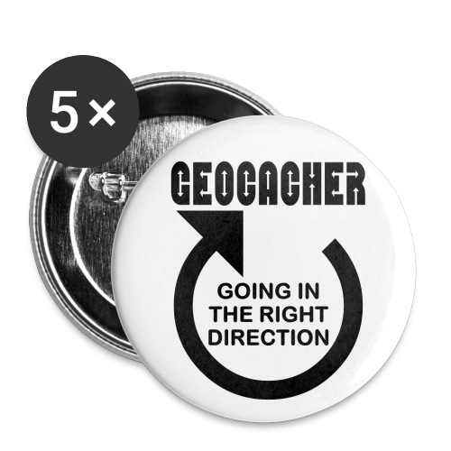 Geocacher Right Direction - Buttons large 2.2'' (5-pack)
