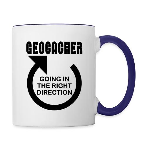 Geocacher Right Direction - Contrast Coffee Mug