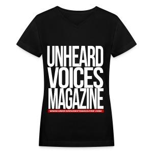 Unheard Voices Magazine Women's V-Neck - Women's V-Neck T-Shirt
