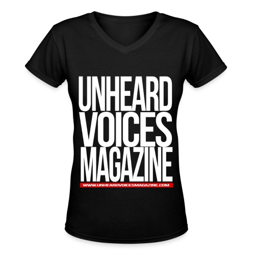 Unheard Voices Magazine Women's V-Neck - Women's V-Neck T-Shirt