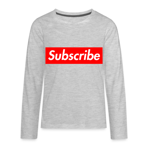 grey subscribe hypbeast long sleave - Kids' Premium Long Sleeve T-Shirt