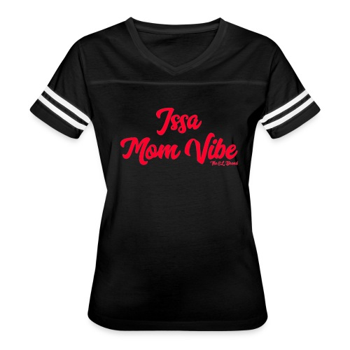 Issa Mom Vibe Red Baseball Tee - Women's Vintage Sport T-Shirt