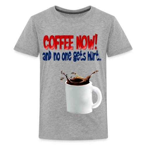 COFFEE NOW - Kids' Premium T-Shirt
