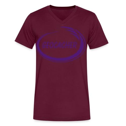 Geocacher Splash - Men's V-Neck T-Shirt by Canvas