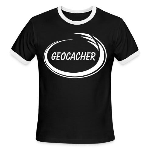 Geocacher Splash - Men's Ringer T-Shirt