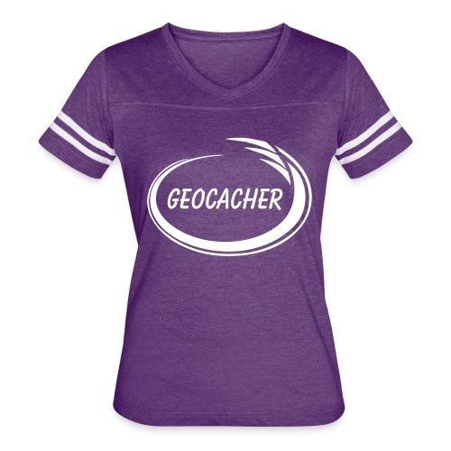 Geocacher Splash - Women's Vintage Sport T-Shirt
