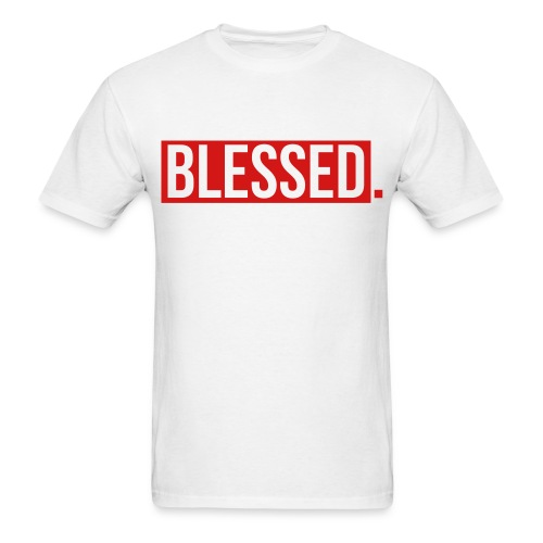 White Blessed T-Shirt - Men's T-Shirt