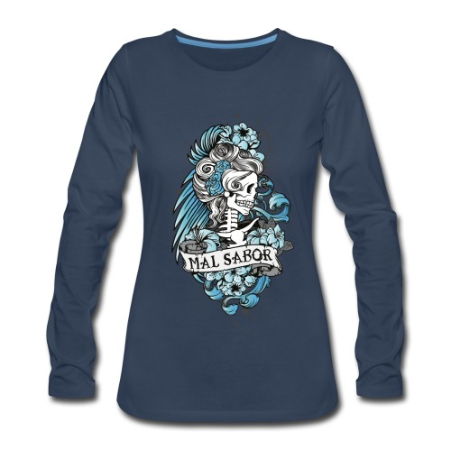 Catrina Tattoo Design - Women's Premium Long Sleeve T-Shirt