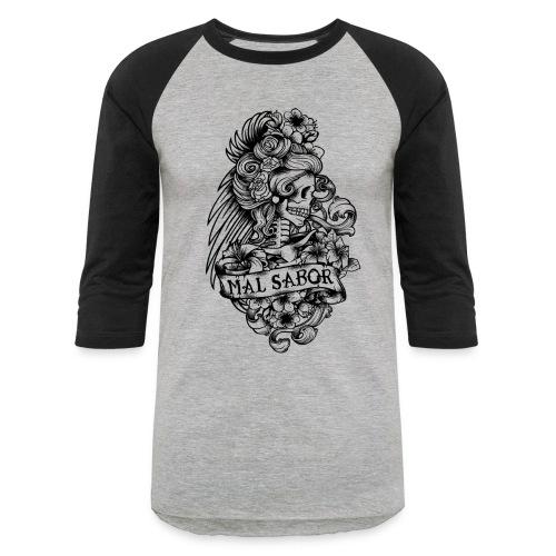 Catrina Tattoo Design Black - Baseball T-Shirt