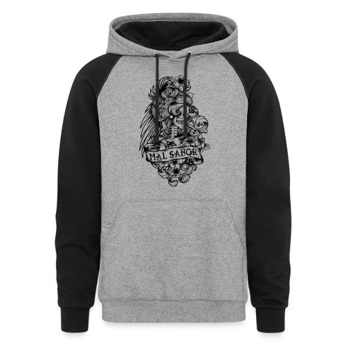 Catrina Tattoo Design Black - Colorblock Hoodie