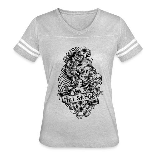 Catrina Tattoo Design Black - Women's Vintage Sport T-Shirt