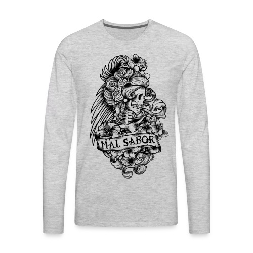 Catrina Tattoo Design Black - Men's Premium Long Sleeve T-Shirt