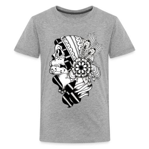 Gypsy Tattoo Design BW - Kids' Premium T-Shirt