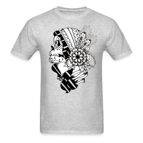 Gypsy Tattoo Design BW - Men's T-Shirt