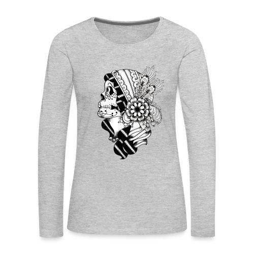 Gypsy Tattoo Design BW - Women's Premium Long Sleeve T-Shirt