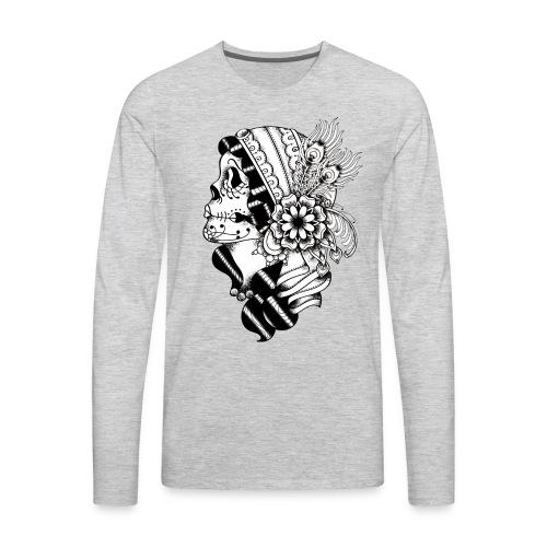 Gypsy Tattoo Design BW - Men's Premium Long Sleeve T-Shirt
