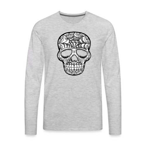 Calavera Tattoo Design BW - Men's Premium Long Sleeve T-Shirt