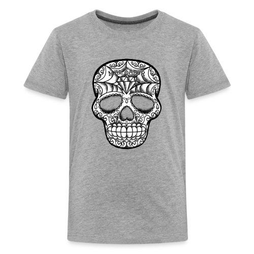 Calavera Tattoo Design BW - Kids' Premium T-Shirt