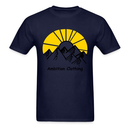 Navy Blue Sunset T-Shirt - Men's T-Shirt