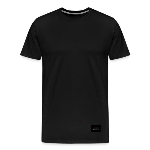 Reverent Cavaliers Mens Premium T-shirt by Calibre Clothing Black (Back Design) - Men's Premium T-Shirt