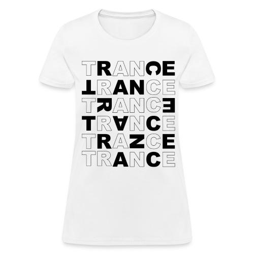 Trance - Cross Letters - Women's T-Shirt