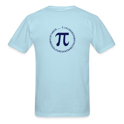 Math, number Pi  - Men's T-Shirt
