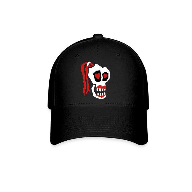 Skull Girl LOVE Ball Cap