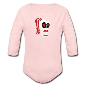 Skull Girl LOVE One Piece - Long Sleeve Baby Bodysuit