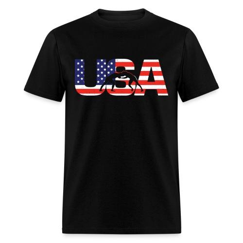 USA Wresting T - Men's T-Shirt