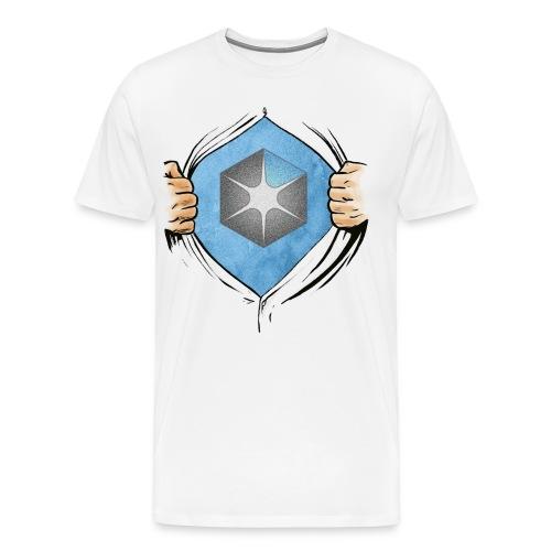 OCAS Hero w/Logo and URL (Light) - Men's Premium T-Shirt