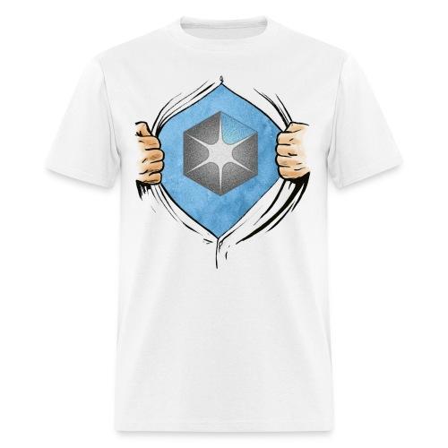 OCAS Hero w/Logo and URL (Light) - Men's T-Shirt