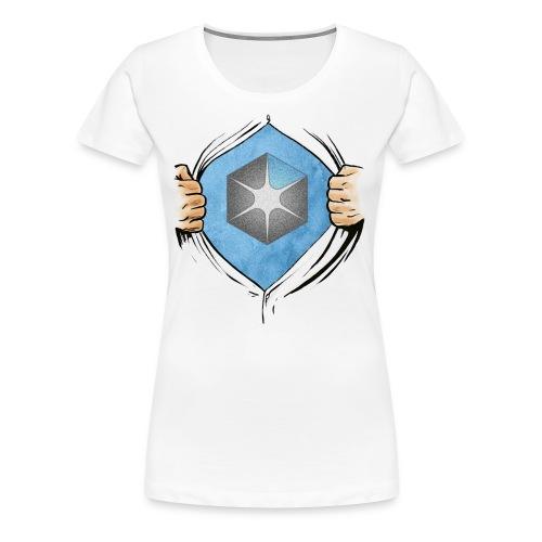 OCAS Hero w/Logo and URL (Light) - Women's Premium T-Shirt