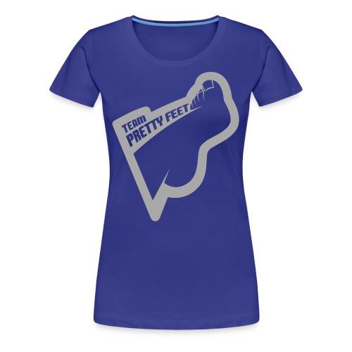 Team Pretty Feet™ Silver Glitterbomb Logo Women's Premium Tee - Women's Premium T-Shirt