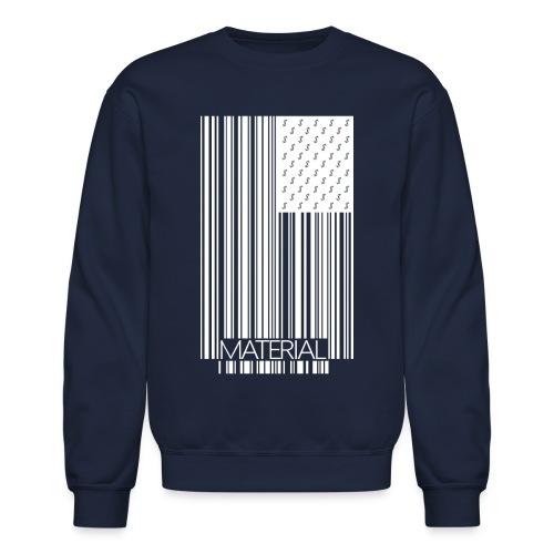 Material White Logo Crew Neck - Crewneck Sweatshirt