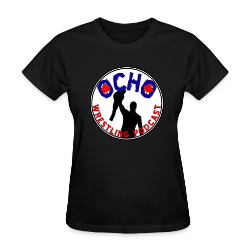 Ocho Wrestling Podcast (white background) - Women's - Women's T-Shirt