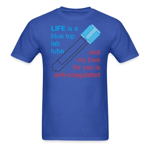 bluetop lab tube - Men's T-Shirt