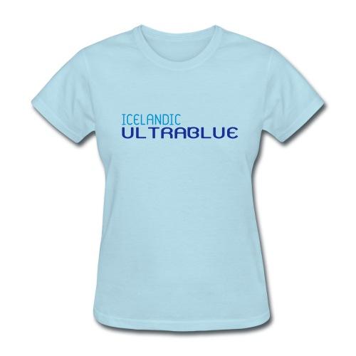 Icelandic Ultrablue [Words Only] (Women's Basic Tee) - Women's T-Shirt